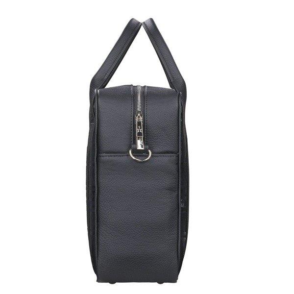 68a82fccaef2c Damska torba biznesowa na laptopa i dokumenty - duża Czarny