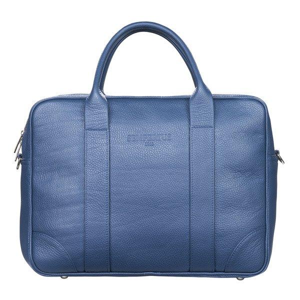 1e594114e1c7b Skórzana torba biznesowa na laptopa i dokumenty - duża Niebieski ...