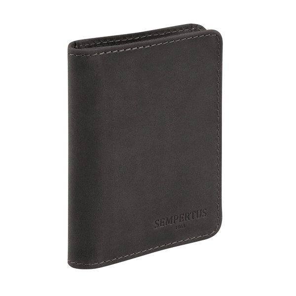 5a6db807a867a Skórzany cienki portfel męski PM-15 CH Czarny