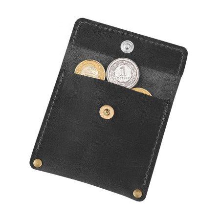 Skórzana bilonówka, portfel na drobne B-01/CH-1