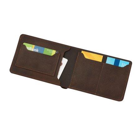 Skórzany cienki portfel męski bez podszewki PM-14/CH